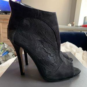 ALDO Lace Black Peep Toe Booties